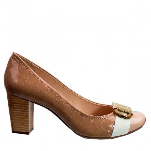 Sapato Feminino Jorge Bischoff Risca Giz Verniz J40121016 A01