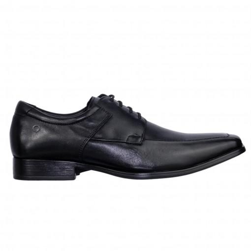 7f2e5005f8 Bizz Store - Sapato Masculino Democrata Metropolitan Couro Preto