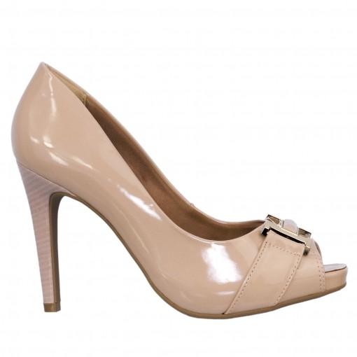 Sapato Peep Toe Feminino Ramarim Verniz 1647204