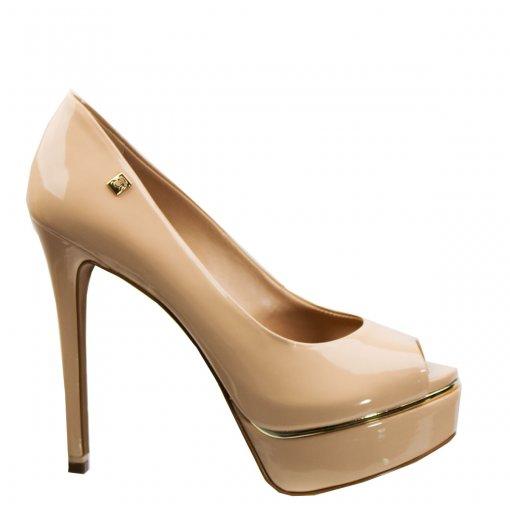 Sapato Peep Toe Loucos e Santos Verniz Soft L21253001 A01