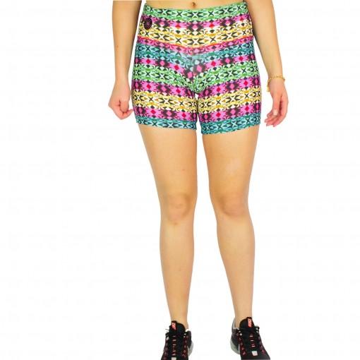 Shorts Feminino Rosa Tatuada Fitness Sublimado 454804