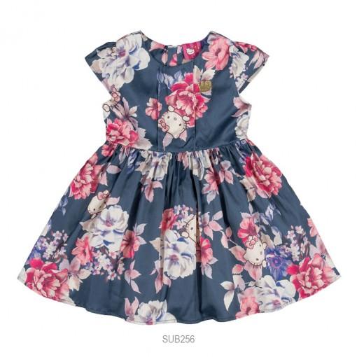 Vestido Infantil Feminino Hello Kitty Floral 0501.87189