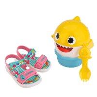 Imagem - Sandália Infantil Grendene Kids Baby Shark Lanchinho Menina 22520  - 061893