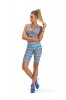 Imagem - Bermuda Ciclista Rosa Tatuada Fitness Feminina 454803  - 050985