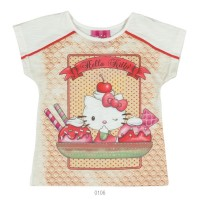 Imagem - Blusa Infantil Hello Kitty Manga Curta Viscose 0801.87279  - 051563