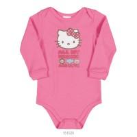 Imagem - Body Infantil Bebê Hello Kitty Suedine Manga Longa 0851.87255  - 051560