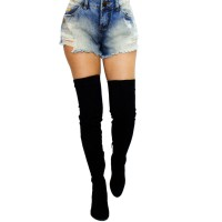 Imagem - Bota Over The Knee Via Marte Suede Strech 17-6802  - 053117