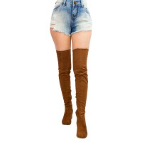 Imagem - Bota Over The Knee Via Marte Suede Strech 17-6802  - 053118