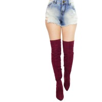 Imagem - Bota Over The Knee Via Marte Suede Strech 17-5704  - 053130