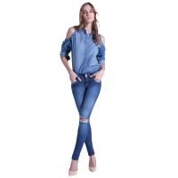 Imagem - Calça Jeans Cigarrete Low Ana Hickmann 21110  - 053290