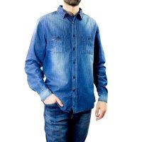 Imagem - Camisa Jeans Masculina Dixie  - 057835