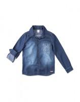 Imagem - Camisa Jeans Infantil Masculina Hering Kids C25pjelus - 055078