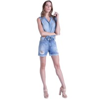 Imagem - Camisa Jeans Feminina Ana Hickmann 20068 - 053292
