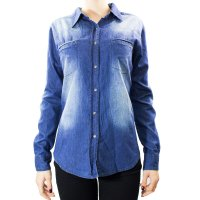 Imagem - Camisa Jeans Feminina Mosaico 15.37.0004  - 055355