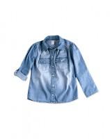 Imagem - Camisa Jeans Infantil Hering Kids Manga Longa C758jejpx  - 051629
