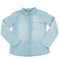 Imagem - Camisa Jeans Infantil Menina Hering Kids C75ejeklx  - 051528