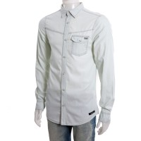 Imagem - Camisa Jeans Masculina Coca-Cola Manga Longa 031.52.00009  - 046332