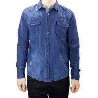 Imagem - Camisa Jeans Masculina Gangster 15.13.0042  - 055353
