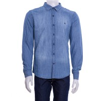 Imagem - Camisa Jeans Masculina Porto&CO Slim Fit P076  - 045225