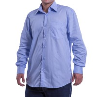 Imagem - Camisa Social Masculina W.Albann Classic Fio 50 10004  - 023190