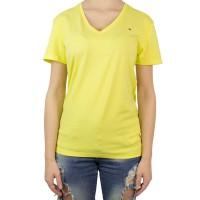 Imagem - Camiseta Feminina Tommy Hilfiger Gola V Th1m87657754 - 043335