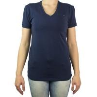 Imagem - Camiseta Feminina Tommy Hilfiger Gola V Th1m87657754 - 043338