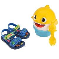 Imagem - Sandália Infantil Grendene Kids Baby Shark Lanchinho Menino 22520 - 061892