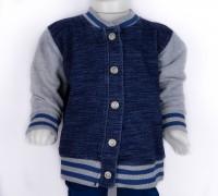 Imagem - Jaqueta Jeans Moletom Infantil Hering Kids College 54c71a07  - 047883