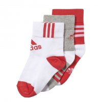 Imagem - Kit Meias Adidas Infantil Ankle Mid 3 Pares Ay6535 - 052032