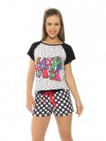 Imagem - Pijama Femino Recco Curto Verão 09175  - 048560