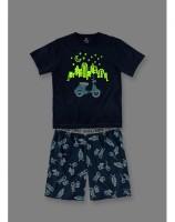 Imagem - Pijama Infantil Masculino Hering Kids Brilha No Escuro 56mg1x10  - 051627