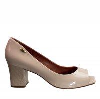 Imagem - Sapato Peep Toe Feminino Luz da Lua Verniz S32017  - 055402