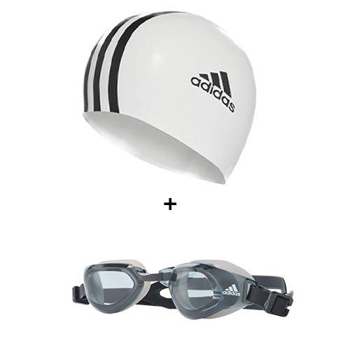 Imagem - Kit Natação Adidas Touca + Óculos de Natação
