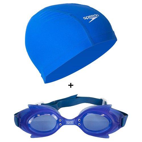 Imagem - Kit Infantil Natação Speedo Touca + Óculos Natação