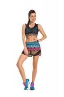 Imagem - Shorts Feminino Rosa Tatuada Fitness 4515  - 050964
