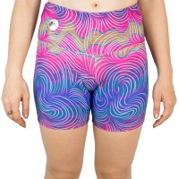 Imagem - Shorts Feminino Rosa Tatuada Fitness Sublimado 454804  - 050987