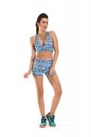 Imagem - Shorts Feminino Rosa Tatuada Fitness Sublimado 454804  - 050986