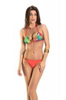 Imagem - Biquíni Feminino Rosa Tatuada Praia 3 peças 4607  - 050667