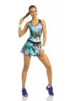 Imagem - Vestido Fitness Rosa Tatuada 3647  - 048190