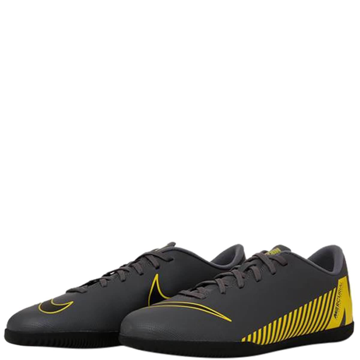 322b44cd54 Chuteira Masculina Futsal Nike MercurialX Vapor 12 Club Ah7385-070 -  Cinza Amarelo