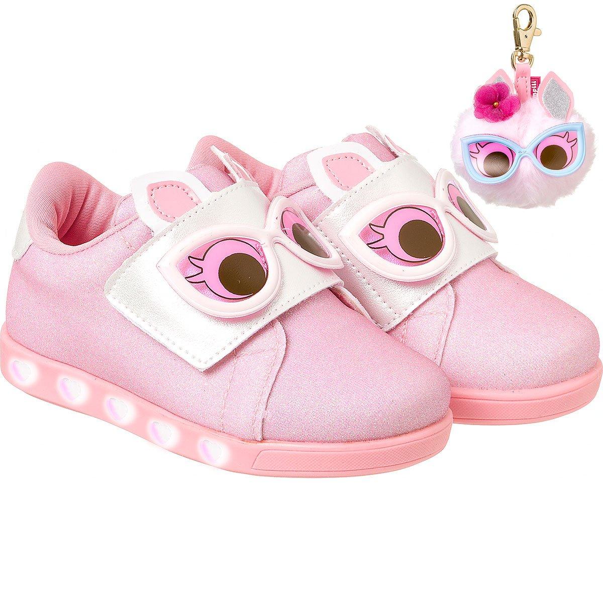 cdb3a9e20 Bizz Store - Tênis Infantil Menina Pampili Sneaker Dot s Luz