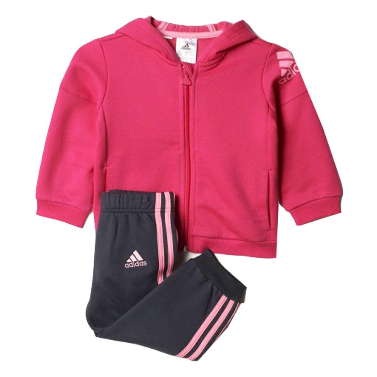 d3fb40d36 Bizz Store - Agasalho Infantil Feminino Adidas I SP FZ HD Rosa