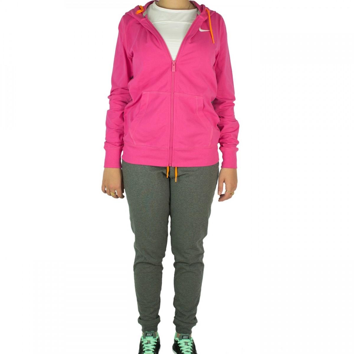 Bizz Store - Agasalho Feminino Nike Jersey Cuffed Pink Esportivo b333e51fea641