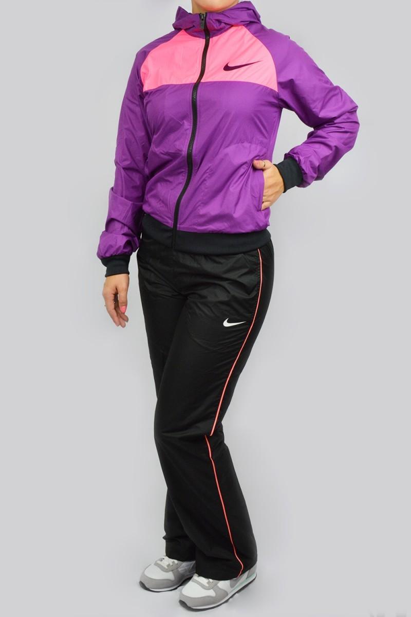 Bizz Store - Agasalho Feminino Nike Esportivo Lilás Preto 546ac4f0d225f