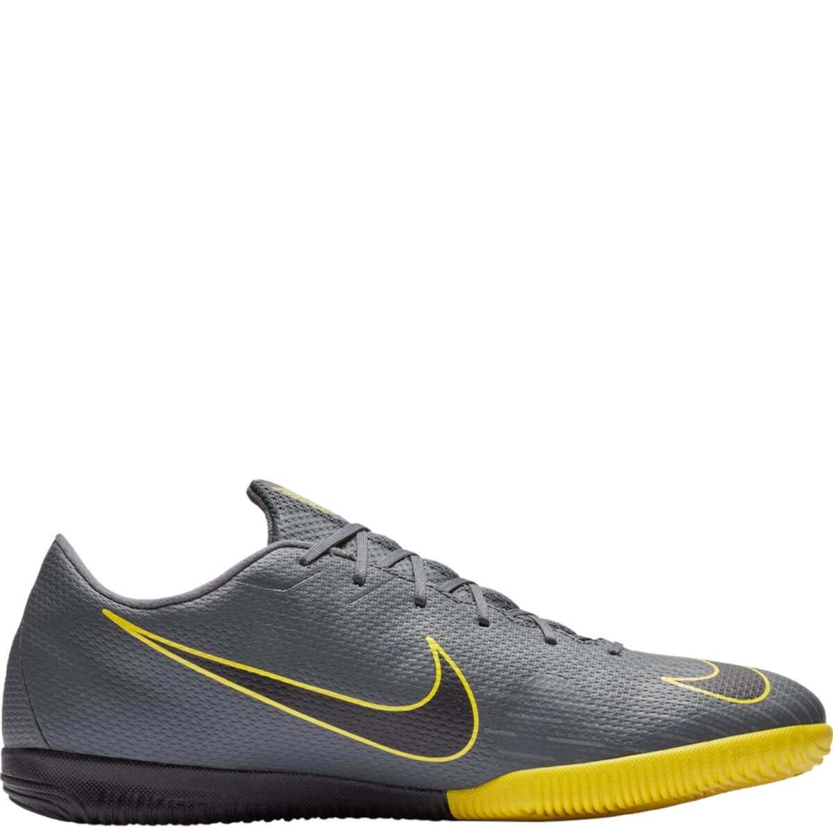 c652aa428 Chuteira Masculina Futsal Nike Vapor XII Academy Ah7383-070 - Cinza/Amarelo  | Bizz Store