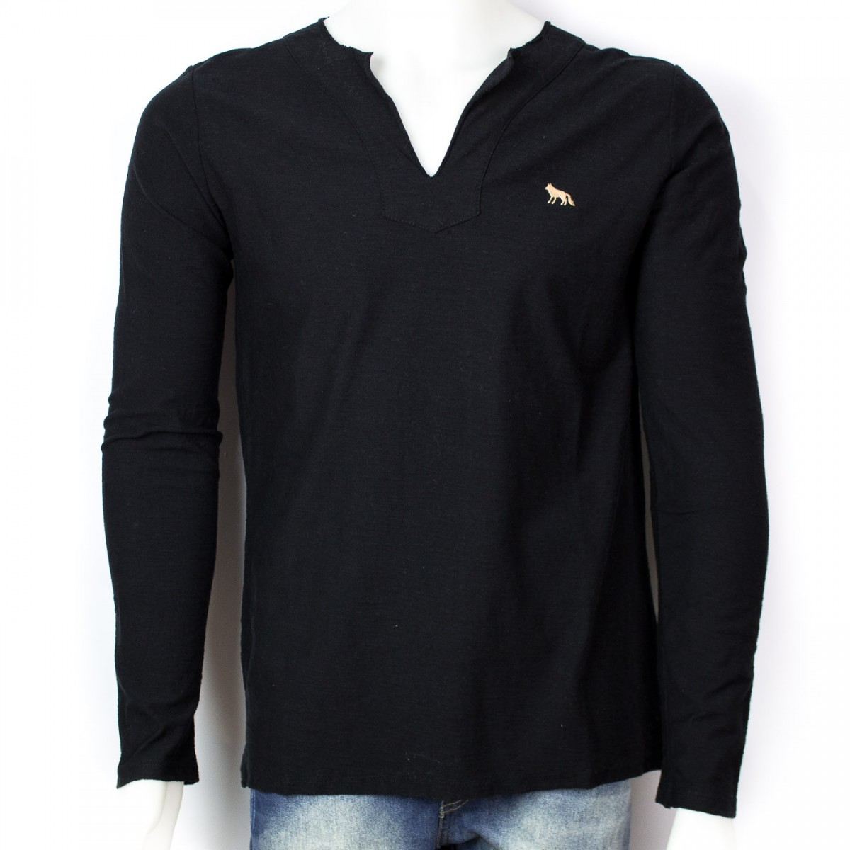 Bizz Store - Camiseta Bata Masculina Acostamento Manga Longa c66d62f6e3b9d