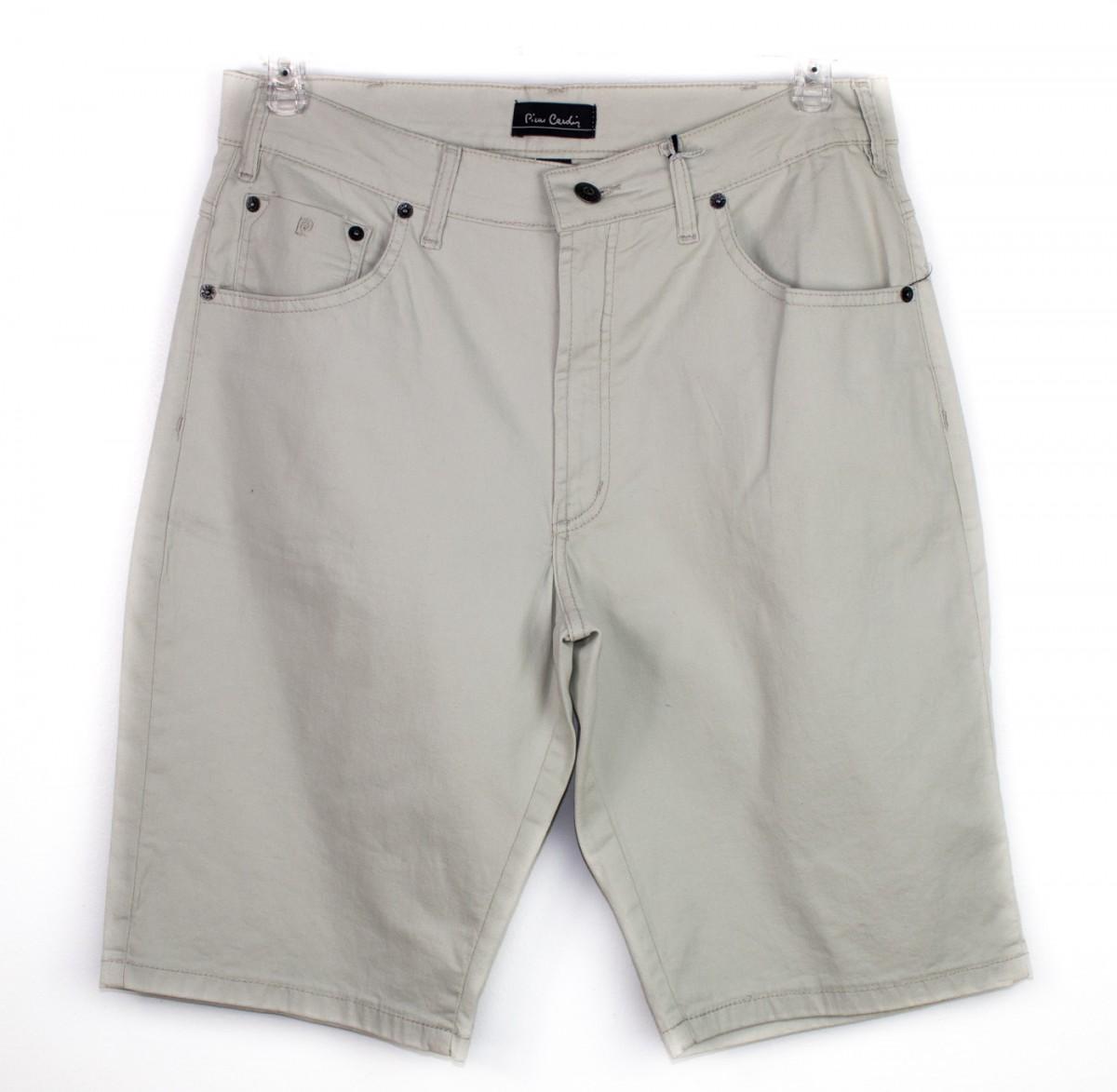 59465f58d Bizz Store - Bermuda Masculina Pierre Cardin Jeans Sarja Bege