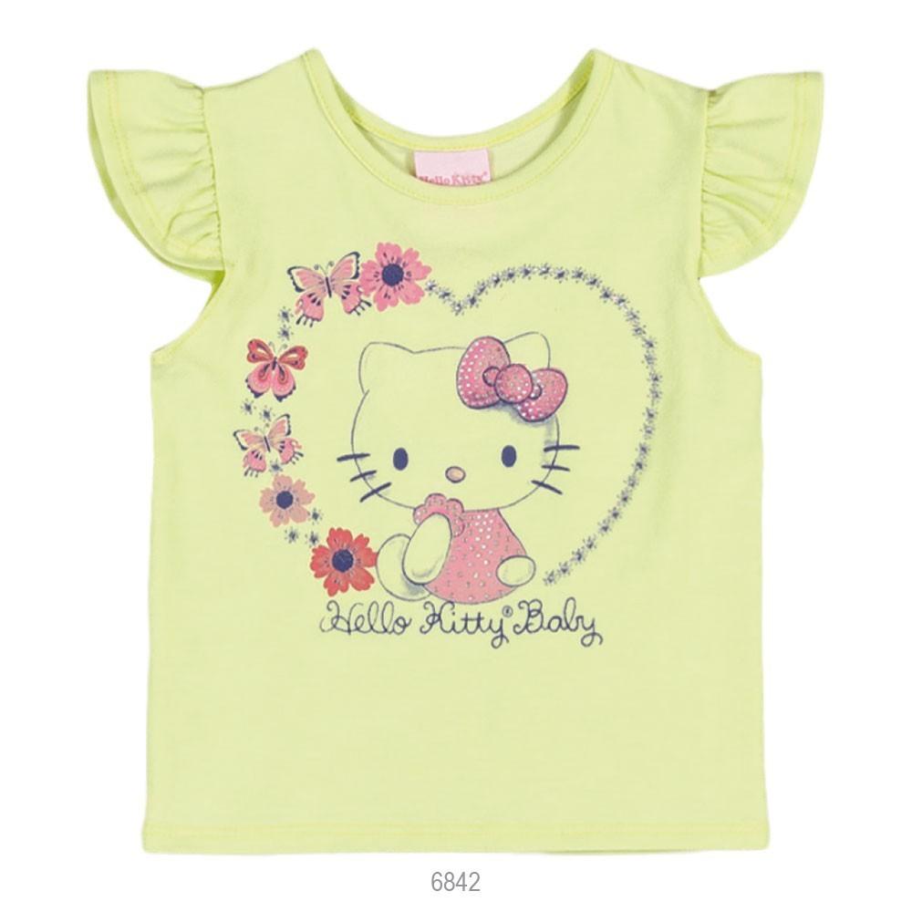1e6b81b34a Bizz Store - Blusa Infantil Bebê Hello Kitty Manga Curta Rosa