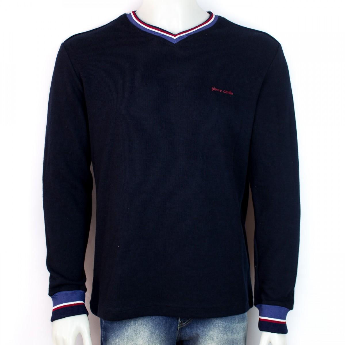 a82bb19507 Bizz Store - Blusa Masculina Pierre Cardin Gola V Tricot Slim