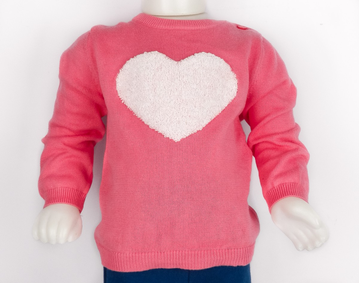 Bizz Store - Blusão Infantil Feminino Hering Kids Tricô Rosa 84214ff7149